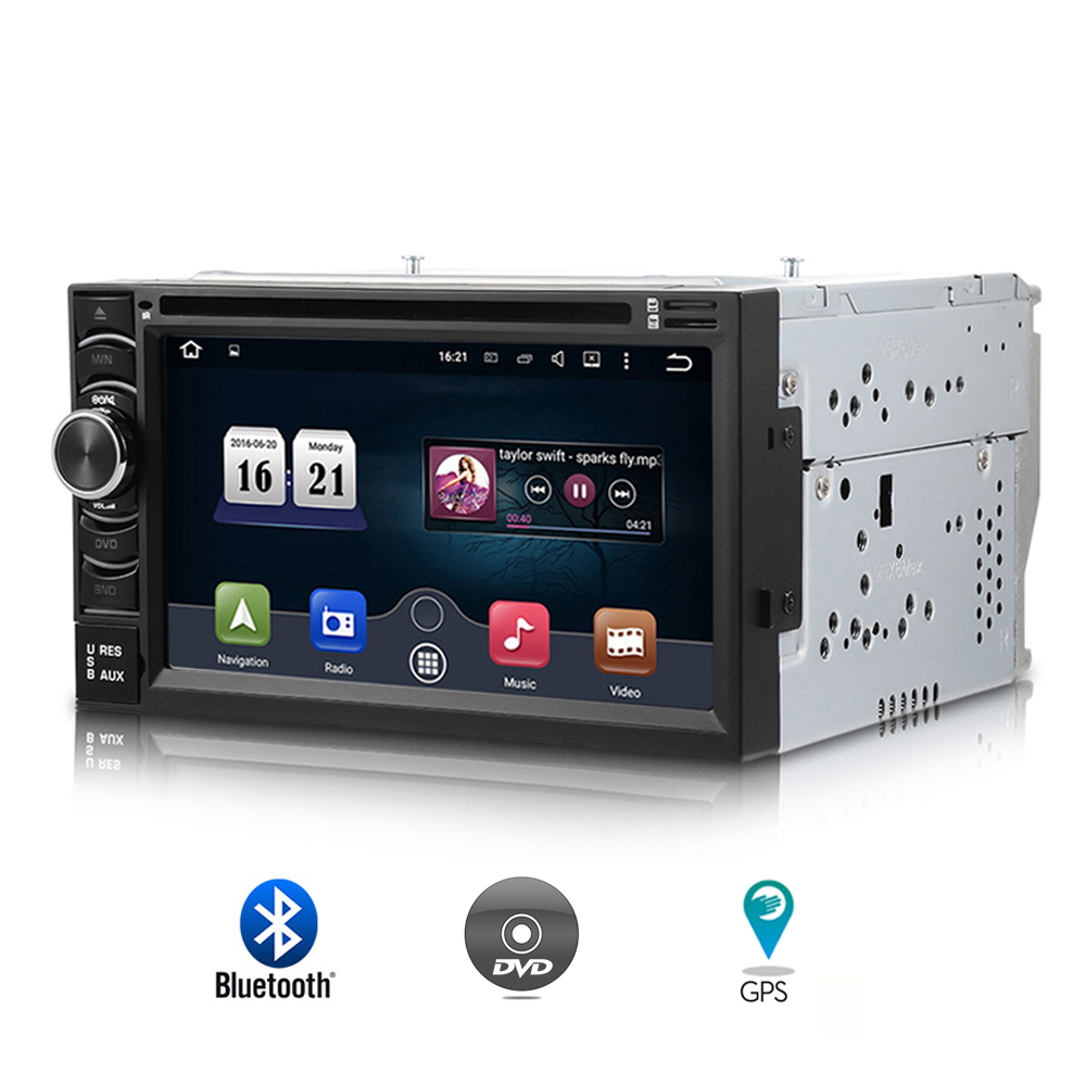 6116G 2 Din Autoradio Car Multimedia CD DVD Player with Bluetooth GPS Navigation 6.5 inch Touch Screen Auto FM AM RDS Radio