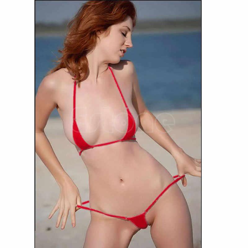 fab3781502 ... Hot Sexy Women Micro Thong Underwear G-String Bra Mini Bikini Swimwear  Sleepwear ...