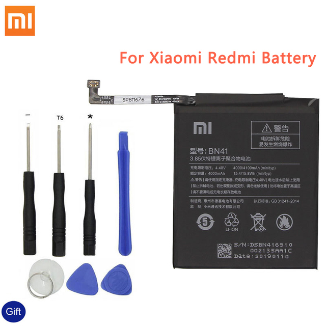 Xiao mi BN41 Bateria Do Telefone Original Para Xiao mi mi Vermelho Nota 4 4X3 Pro 3X 3 S 4X mi 5 BN43 BM22 BM46 BM47 baterias de Substituição