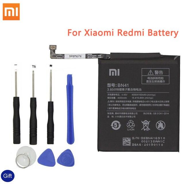 Xiao mi BN41 IÇIN Orijinal Telefon Bataryası Xiao mi kırmızı mi Not 4 4X3 Pro 3 S 3X 4X mi 5 BN43 BM22 BM46 BM47 YEDEK Piller