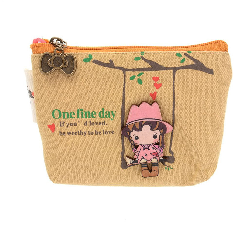 Hot Sale New The Swing Holder Purse Cute Canvas Coin Bag Lovely Girls Small Zipper Wallet Card Purse Zip Key Case Kids & Baby's Bags