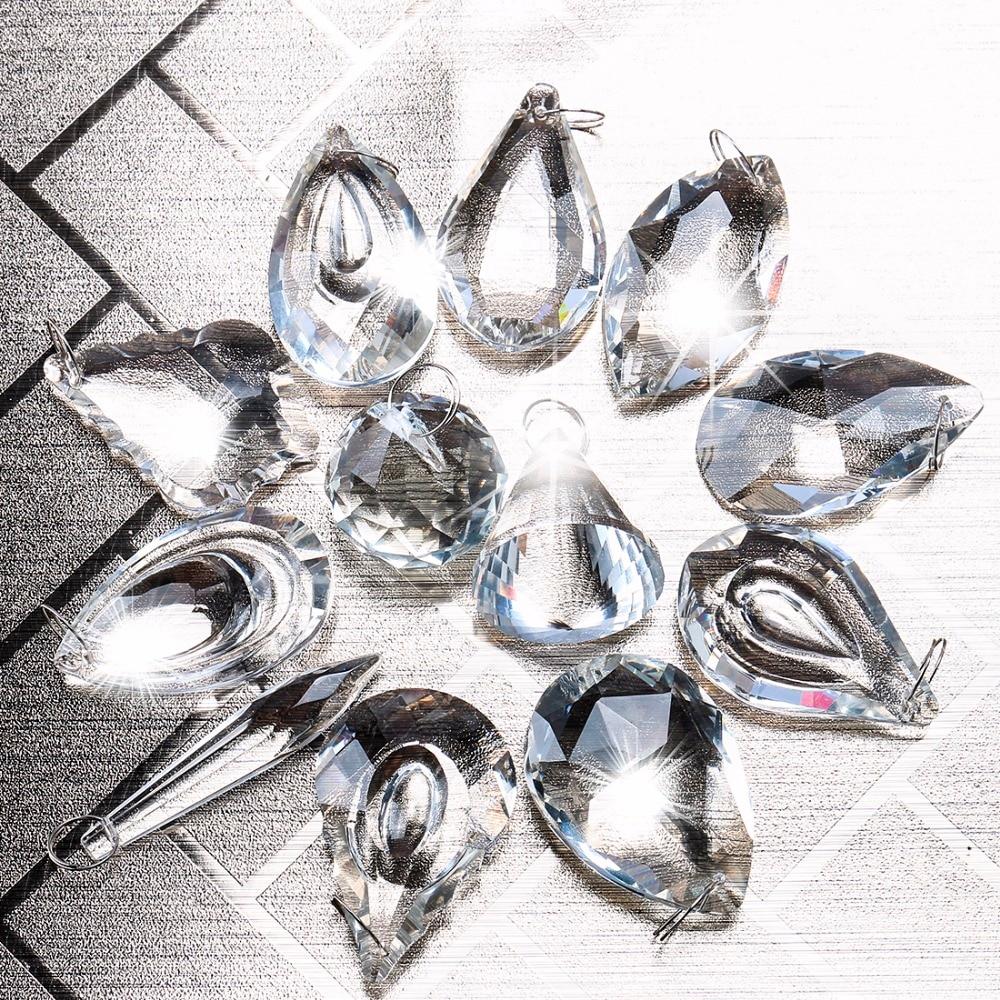 76mm Bunte Kristalle Glas Kronleuchter Lampe Prismen Hänge Tropfen Anhänger