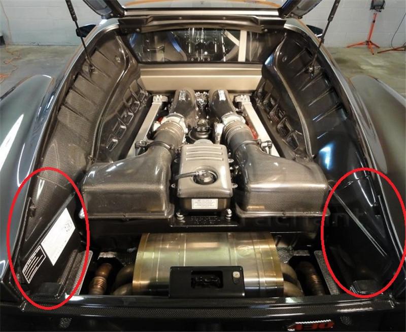 2004-2009 Ferrari F430 Engine Bay 2 pcs Replacement FCF (8)