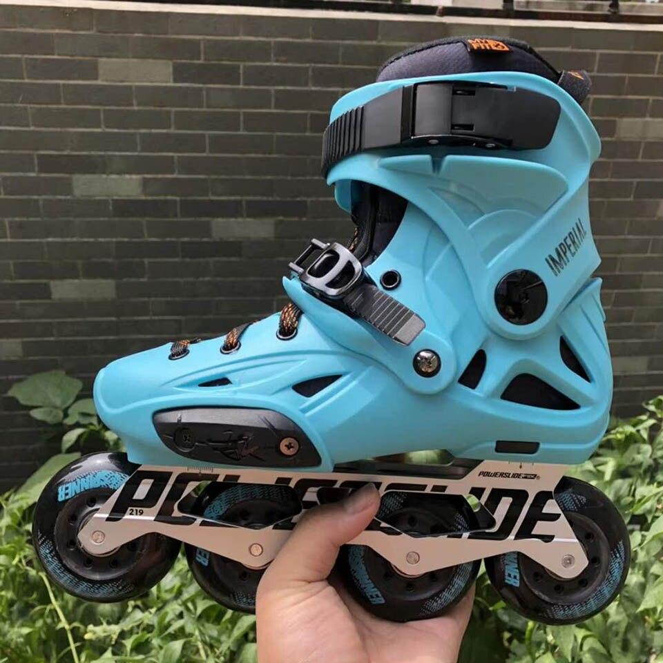 100% D'origine 2018 Powerslide Impériale roller-skates Professionnel Slalom roller-skates Rouleau Livraison chaussures de patinage Coulissante Patines - 5