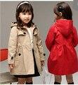 Новый 2015 пальто ветра кардиган куртки для девочек марка девушки весна тенденция стиль девушки дети зимой плащ осеннее пальто