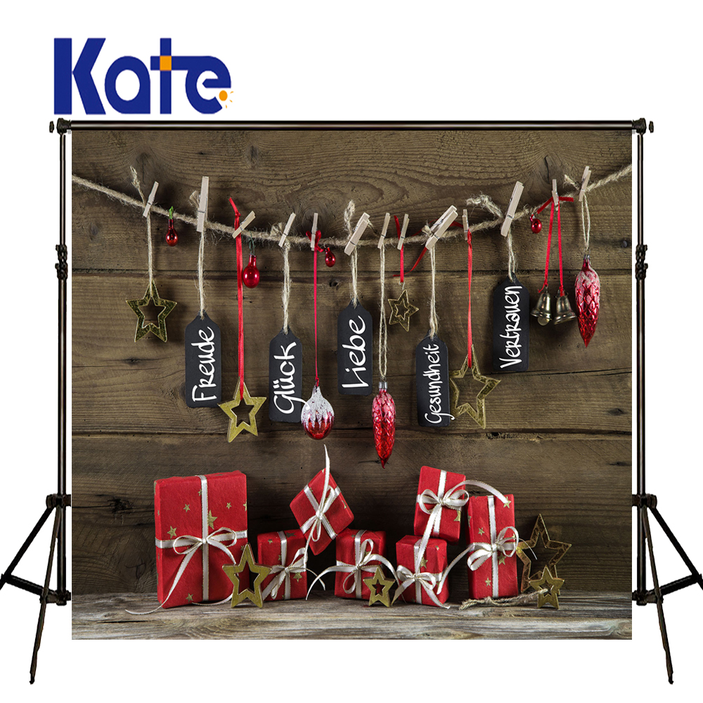 KATE Photo Background Christmas Decorations For Home Vintage Prancha Backdrops Red Gift Box Backdrop for Newborn Photo Shooting gift n home