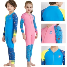 Child One-piece Diving Suit Surfing Wetsuit Kids Thermal Swimsuit Full Body Long Sleeve Wetsuits For Kid Diving Swimming Surfing цена