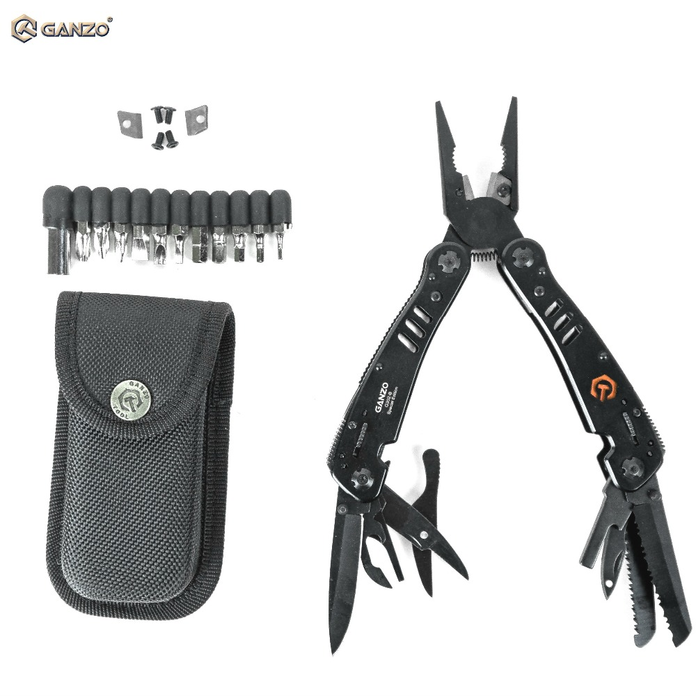 Just Original Ganzo G301h Portable Edc Pocket Tool Folding Plier Bag Lock Pliers Camping Multi Functional Tools Model Building Kits