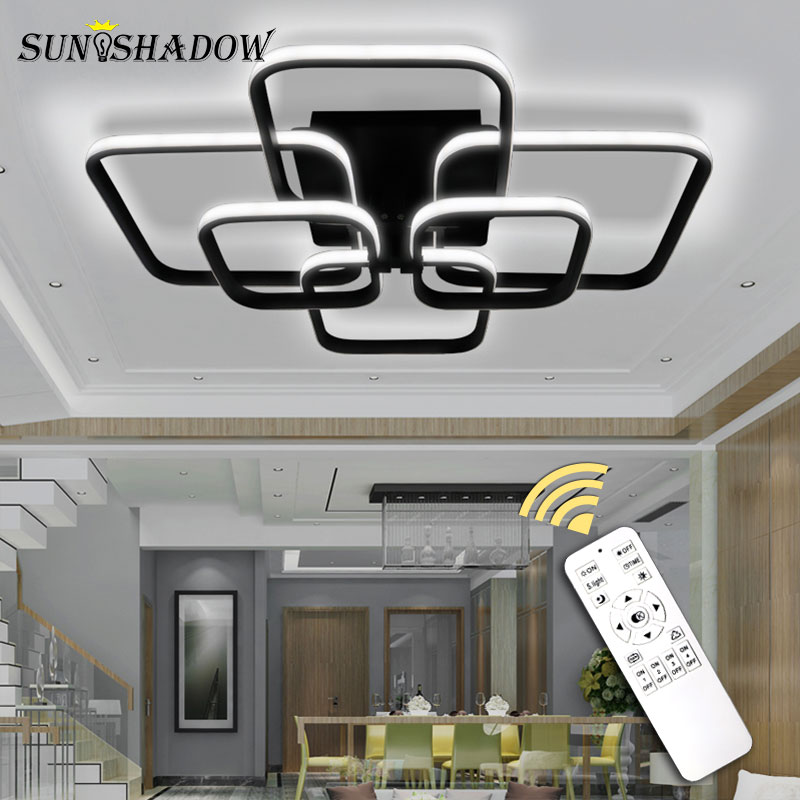 HTB1f5TNVCzqK1RjSZFpq6ykSXXay Modern LED Ceiling Light Black&White Chandeliers Ceiling Lamp LED Light Fixtures Living room Bedroom Dining room Kitchen Lustres
