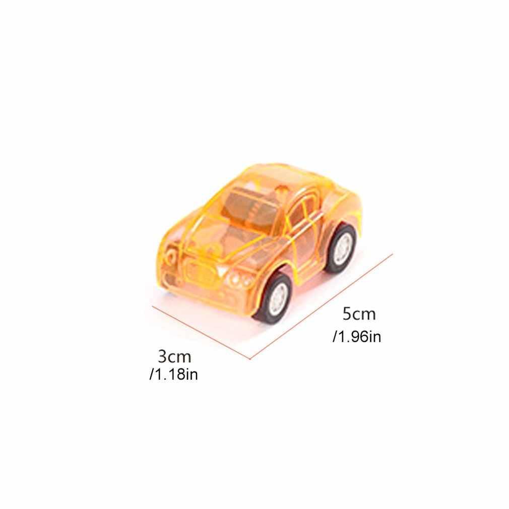Çocuk 5X3 Cm oyuncak arabalar Mini geri çekin geri şeffaf geri çekin oyuncak arabalar bağımsız ambalaj hediyeler küçük oyuncaklar