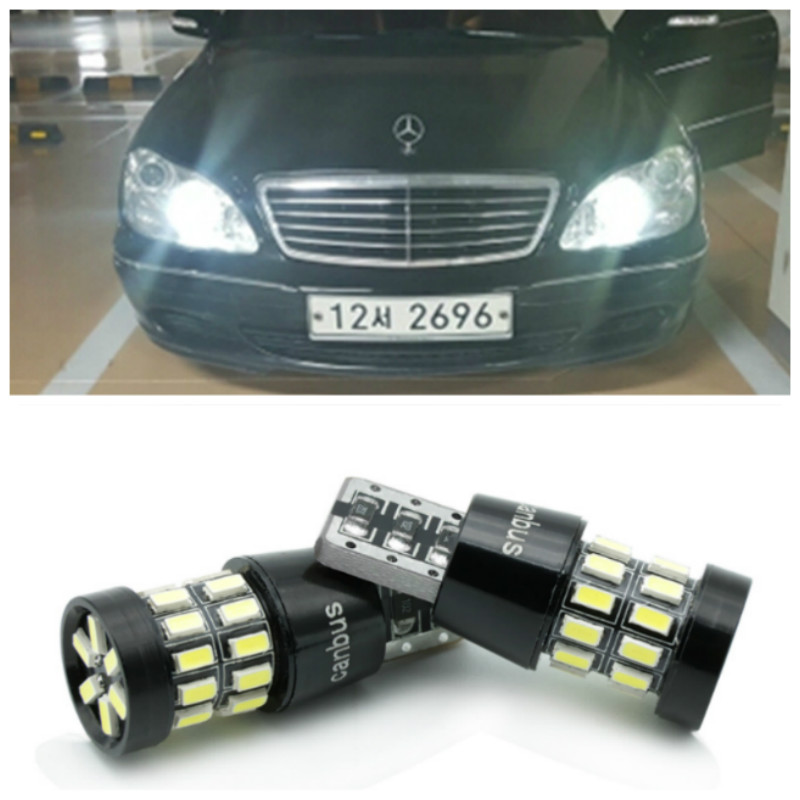 2x <font><b>LED</b></font> Canbus T10 W5W 3014 30SMD Car <font><b>LED</b></font> Light Lamp Bulb For Mercedes Benz W209 <font><b>W202</b></font> W220 W204 W203 W210 W124 W211 W222 X204 image