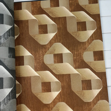 vinilos pared Abstract Geometric 3D Wall papers Home Decor PVC Grey Grid Personalized Wall Paper Roll for Walls rejilla pared наклейки ftf 2015 vinilos 3d 33