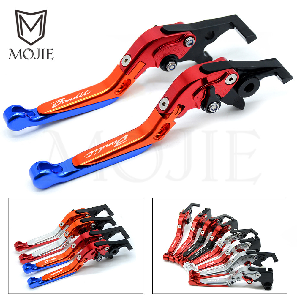 For Suzuki GSF 600 S 250 BANDIT GS500 GS500E GS500F GSX400 Impulse CNC Motorcycle Adjustable Folding Clutch Brake Levers Set цена