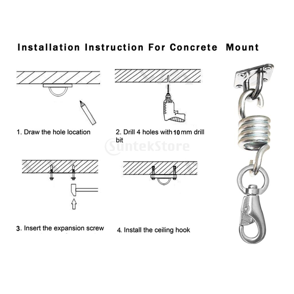 hanging chair bolt large covers 11pcs set heavy duty 500lb hammock kit spring swivel hook screw ceiling mount fixing hardware accessories in outdoor tools from sports