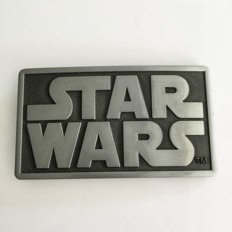 Retail New styles Star Wars belt buckle Rectangle Silver metal cowboy Belt head Fit 4cm  ...