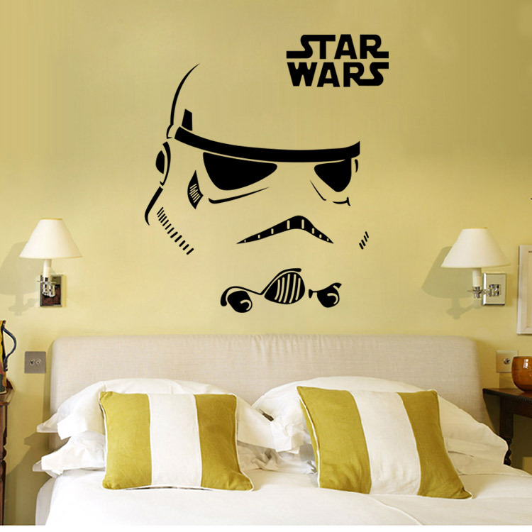 D001 star wars wall stickers for kids room decor vinyl for Star wars kids room decor