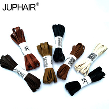 JUP1-12 Pair Yellow Brown Waxed Cotton Flat Shoelaces Leather Shoestring Boot Sport Shoelace Unisex Sneakers Shoe Lace wholesale
