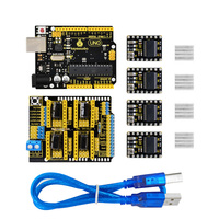 Keyestudio CNC kit for arduino CNC Shield V3+UNO R3+ 4pcs DRV8825 driver /GRBL compatible