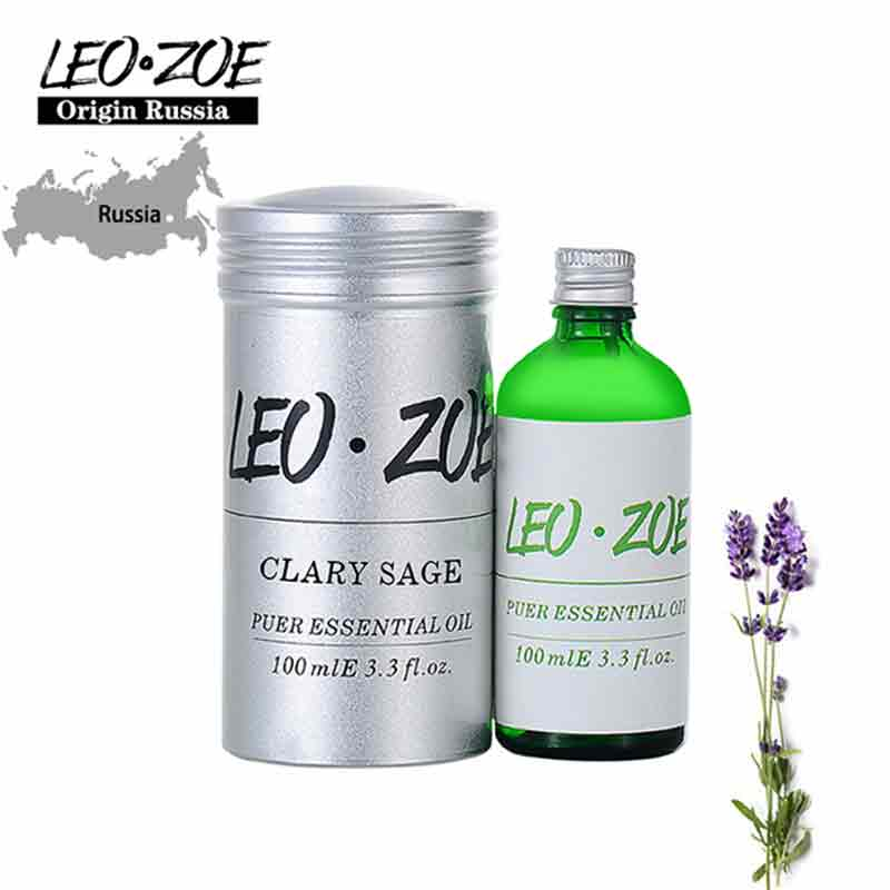 LEOZOE Clary Sage Essential Oil Certificate Of Origin Russia High Quality Aromatherapy Clary Sage Oil 100ML Aceites Esenciales
