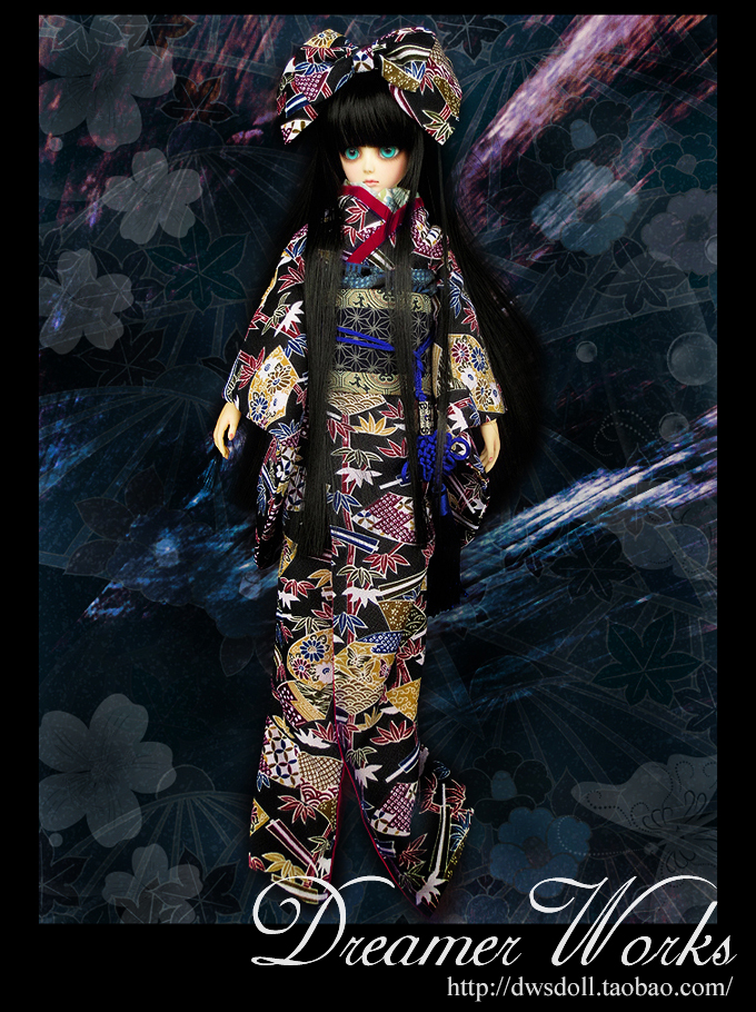 1/4 scale BJD doll clothing Japanese kimono for BJD/SD EID Women accessory.Not included doll,shoes,wig and other 17C3377
