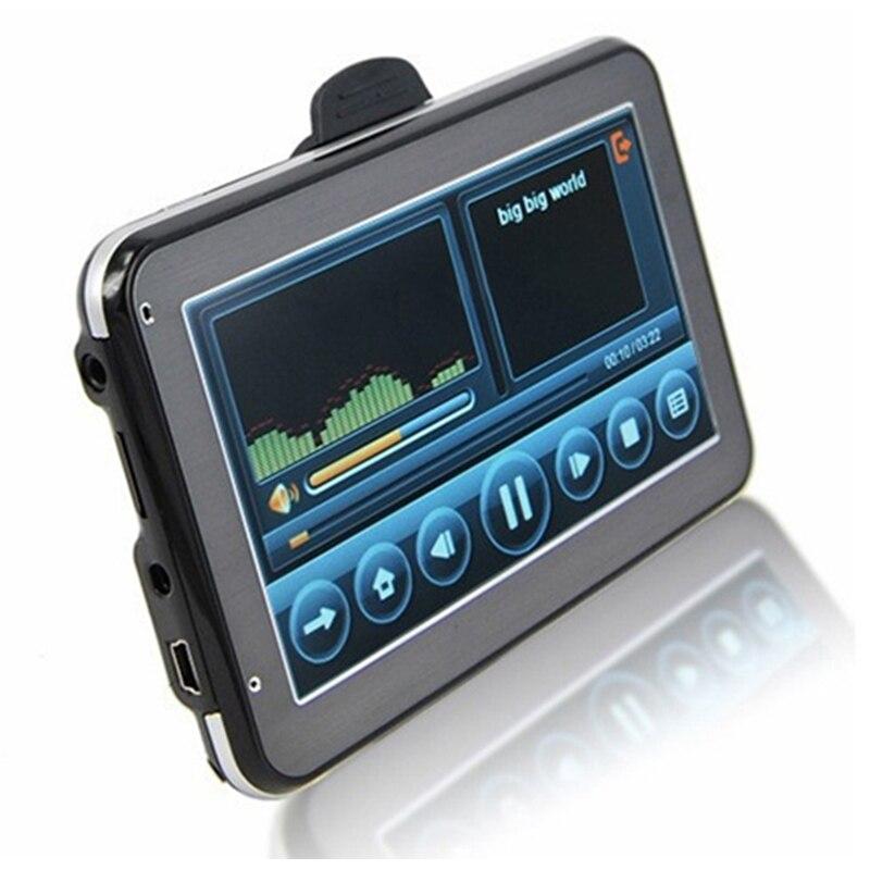 5 Inch HD Car GPS Navigation 800MHZ FM/4GB/DDR3 Free Maps For Russia Belarus Europe/USA+Canada TRUCK Navigator Sat Nav Tourist