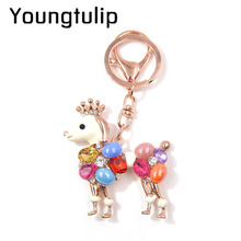 Youngtulip Cute Colorful Dog Key Chains Fashion Animal Keychains Car Hanging Wedding Accessories Handbag Hang Accessories New