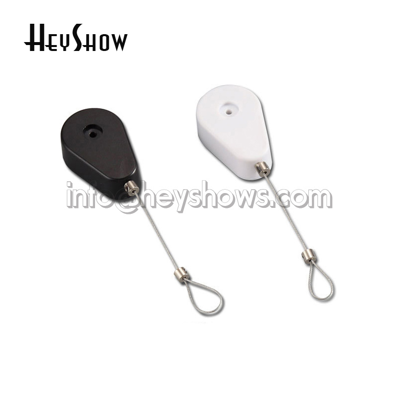 50Pcs Stretch Security Pull Wire Box Recoiler Product Security Steel Cable Retractable Anti-theft Chain Automatic Winding Reel