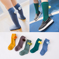 Новая коллекция весна Осень носки дети Горячие Симпатичные бал дети колено теплые носки твердые хлопка детей носки для мальчиков девочек 1-6 Т