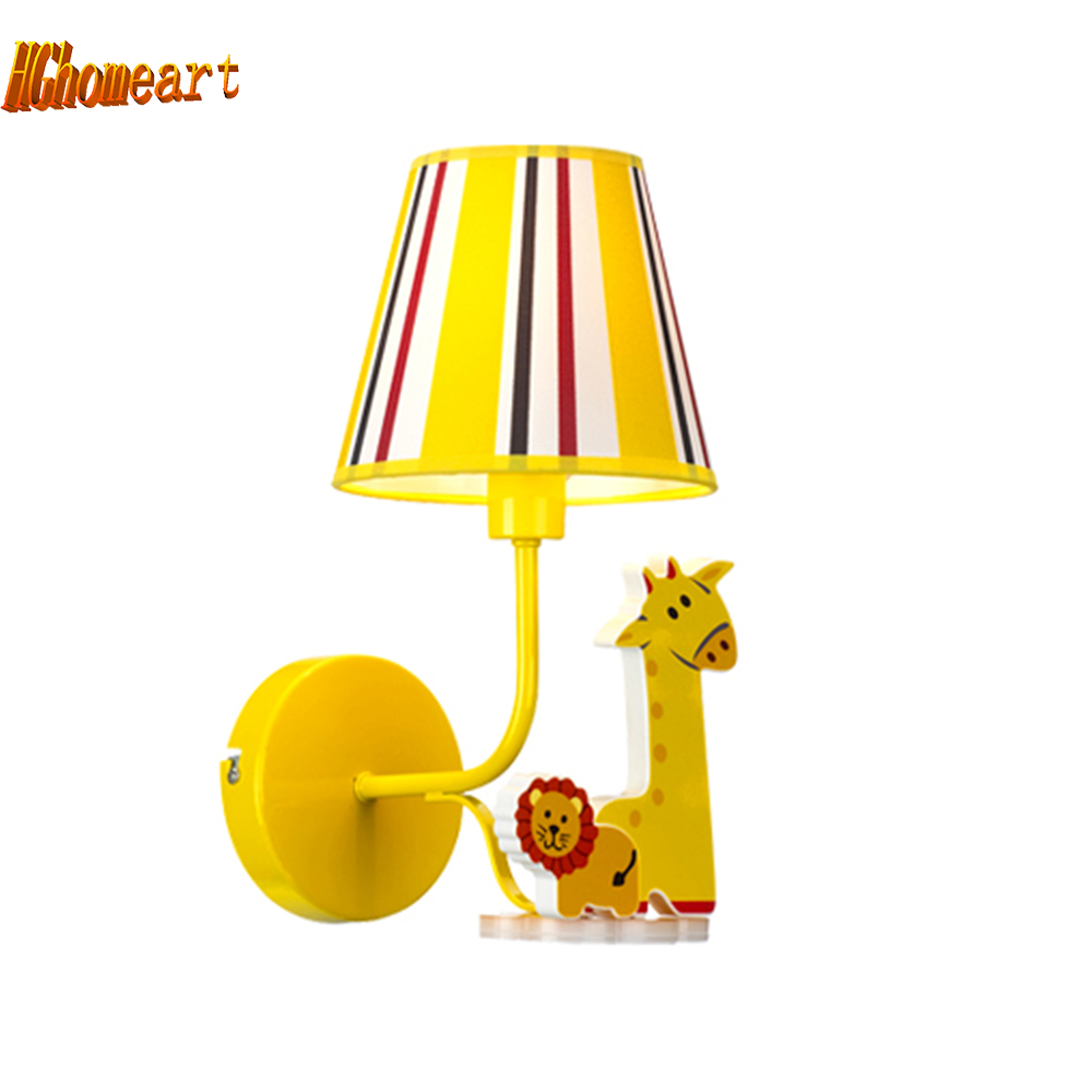 Hghomeart Indoor Lighting Kids Room Pink Bedside Lamp Led E27 110V-220V Wall Lights for Home Lighting Modern Led Wall Lamps hghomeart kids led pendant lights basketball academy lights cartoon children s room bedroom lamps lighting
