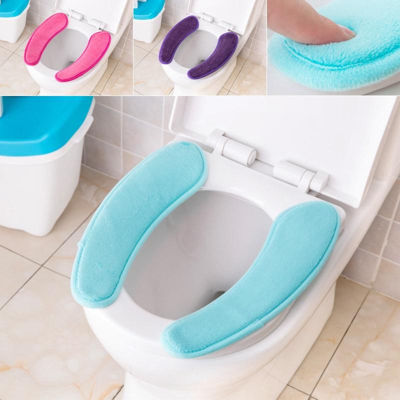 Washable Soft Flannel Toilet Mat Electrostatic Adsorption