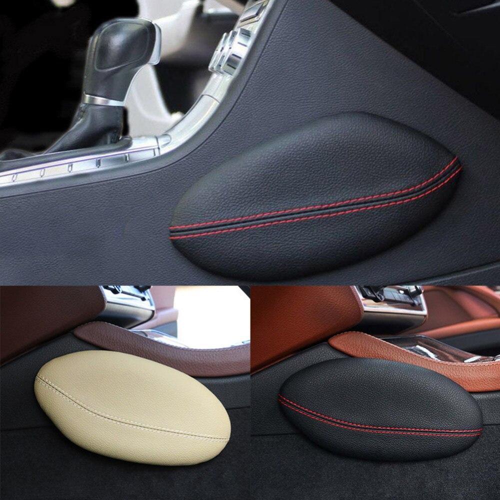 Vitesse En Cuir Coussin De Jambe Genou Pad Cuisse Soutien Oreiller Intérieur De Voiture Accessoires pour BMW E46 E39 E60 E90 E36 F30 f10 X5 Z4 7
