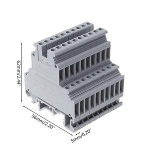 Image 5 - 50 adet UKK3 DIN ray çift seviye çift sıralı Terminal bloğu 500V 25A 28 12AWG gri