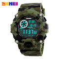 SKMEI 1019 Men Digital Wristwatches Fashion Sport Watch Chronograph Alarm Resin Glass Clock LED Military Man Sports Watches