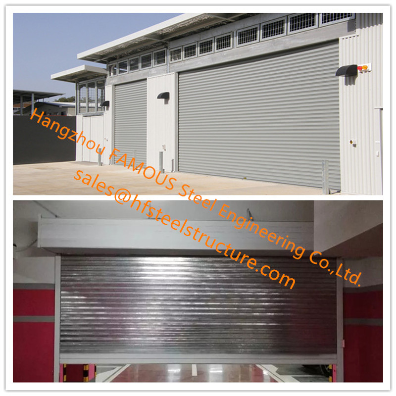 Fire Prevention Motorized Folding Doors America Standard Fire Resistance Steel Sliding Doors