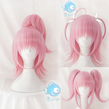 Amu Hinamori Cosplay Wig Shugo Chara ! Doki Party Miki Suu Ran Straight Pigtail Anime Pink Synthetic Hair for Adult Comic Con
