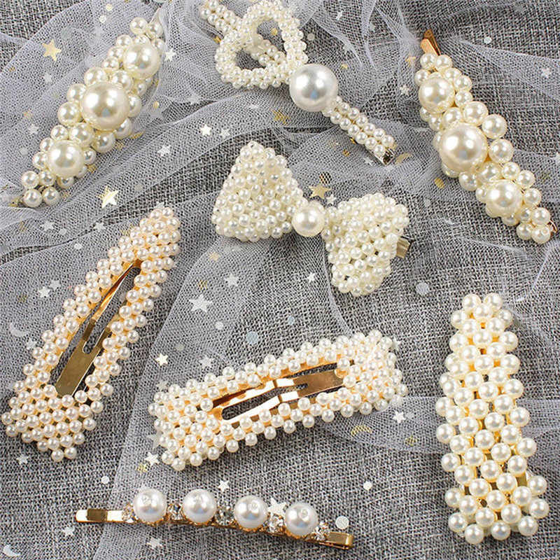 Korea Mutiara Jepit Rambut dengan Ikatan Simpul untuk Wanita Wanita Perhiasan Elegan Hairgrips Hari Valentine Rambut Pin Rambut Aksesoris Dijual