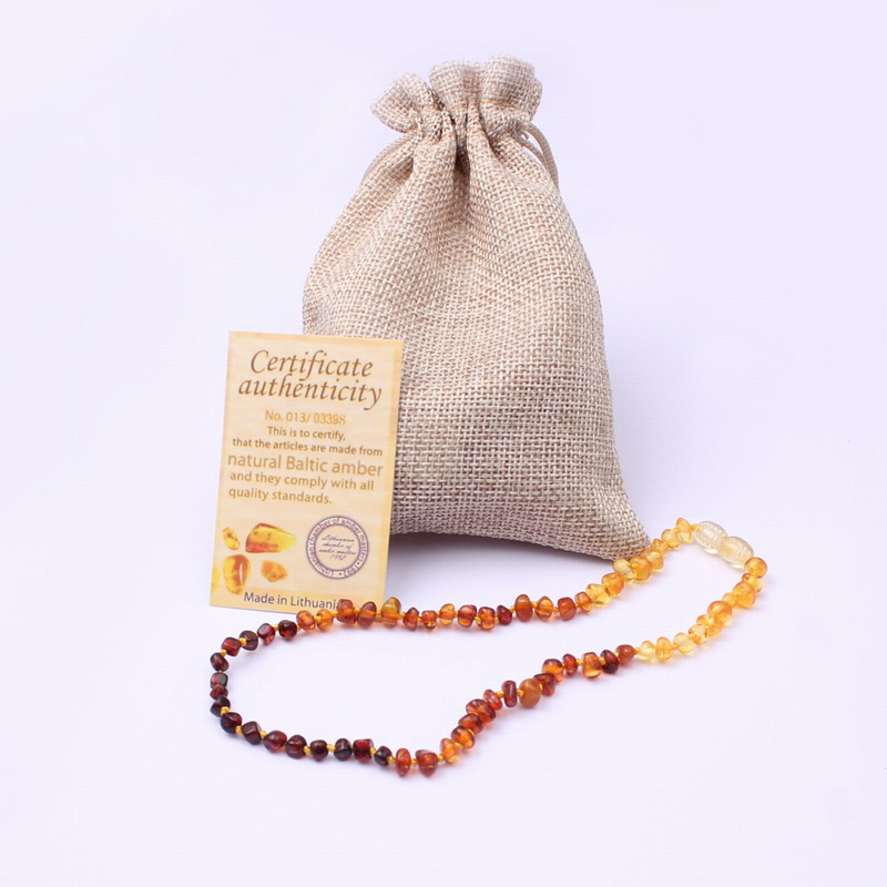 WinWinWin Ambar Necklace for Baby Trendy Jewelry Natural Ambar Beads Genuine Baltic Natural Stones Necklace diy Rainbow Color