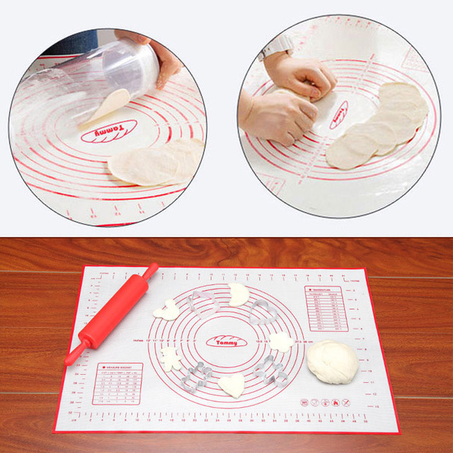 Hifuar Silicone Baking Mat With Scale Rolling Dough Pad Kneading Dough Mat Non Stick Pastry Oven Liner Bakeware 60*40/40*30cm