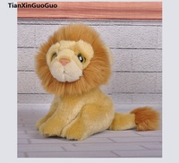 high quality goods about 20cm male lion plush toy cartoon lion soft doll baby toy birthday gift s0322