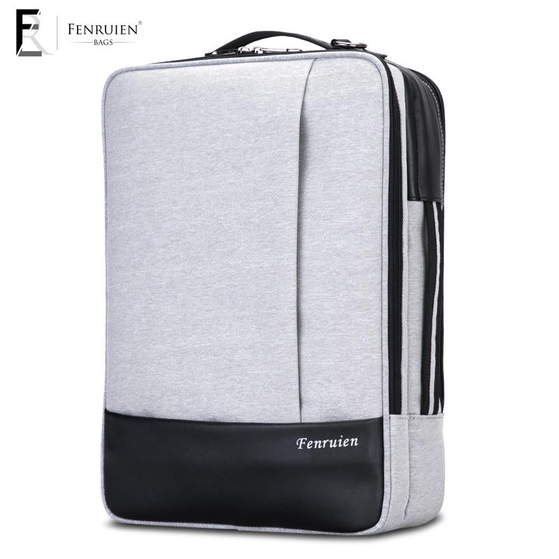 Fenruien Terylane Laptop Backpack Men Waterproof Fashion Urban Business Daypack Travel Anti theft Backpack Rucksack School Bag