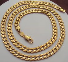 Handsome 24K Yellow Gold GF Figaro Curb Link Chain Necklace 23.6 Inch 7MM Unconditional Lifetime Replacement Guarantee