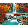 Frameless River Landscape DIY Painting By Numbers Modern Wall Art Canvas Hand Painted Home Wall Decor