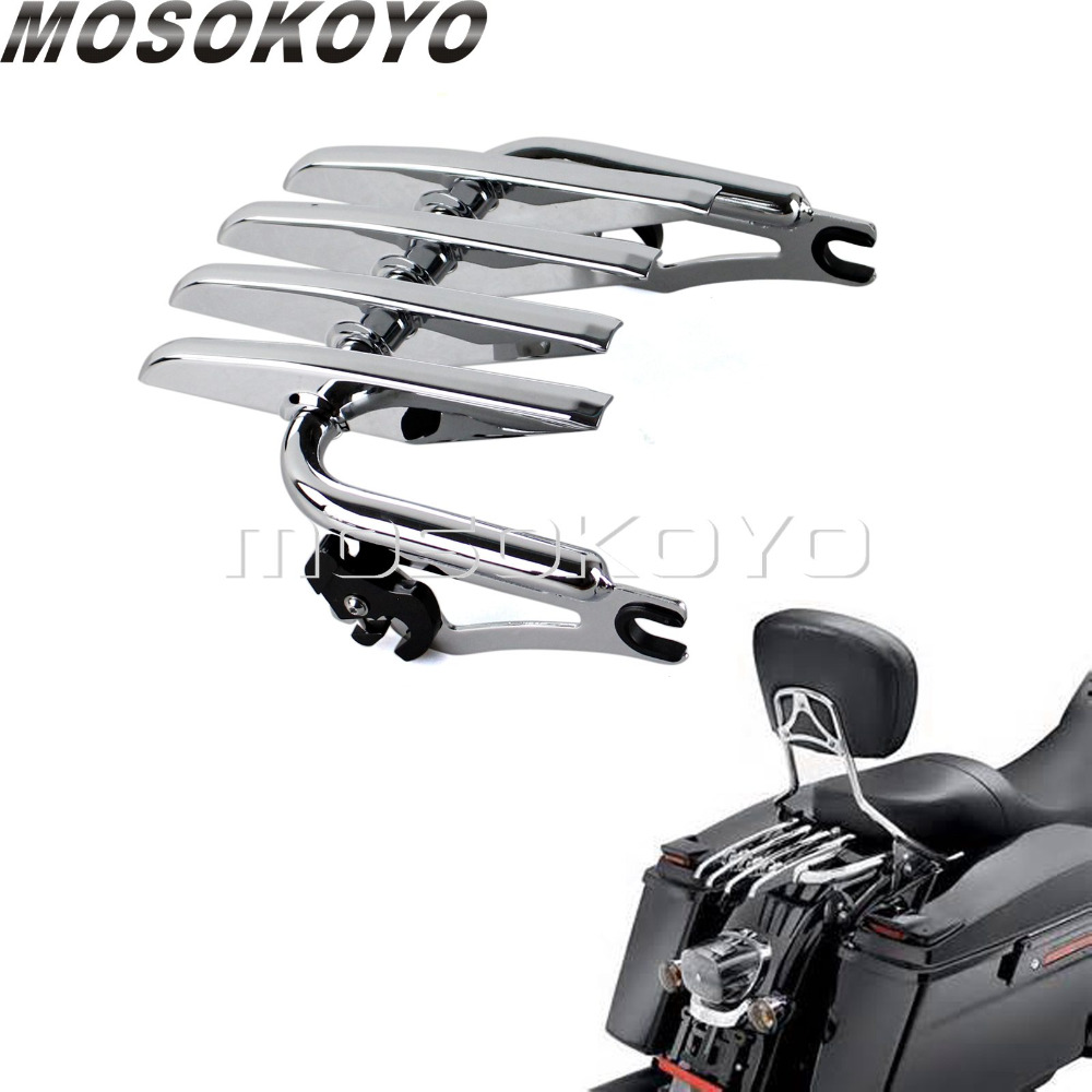 Two Up Detachable Tour Pak Luggage Rack for Harley Touring Road King Street Glide Ultra Classic
