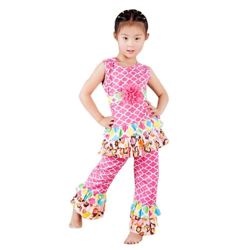 Posh Floral Belt Outfits Kid Girl Family Children Clothing Sets Toddler Girl Clothing Girls ...
