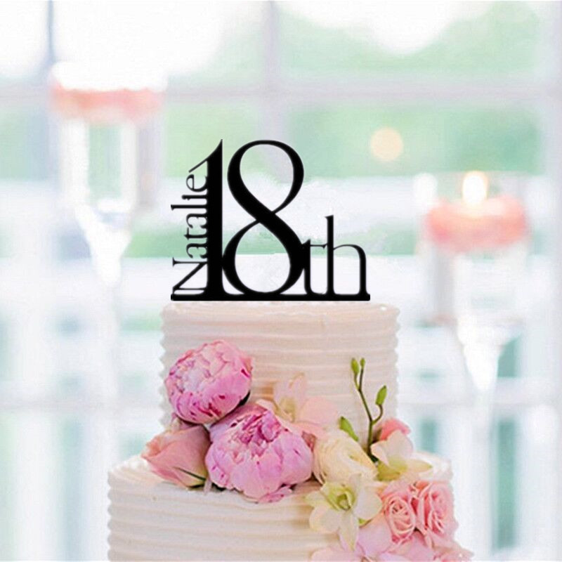 Awesome Personalized Elegant 18Th Birthday Cake Topper Cake Decorating Personalised Birthday Cards Veneteletsinfo