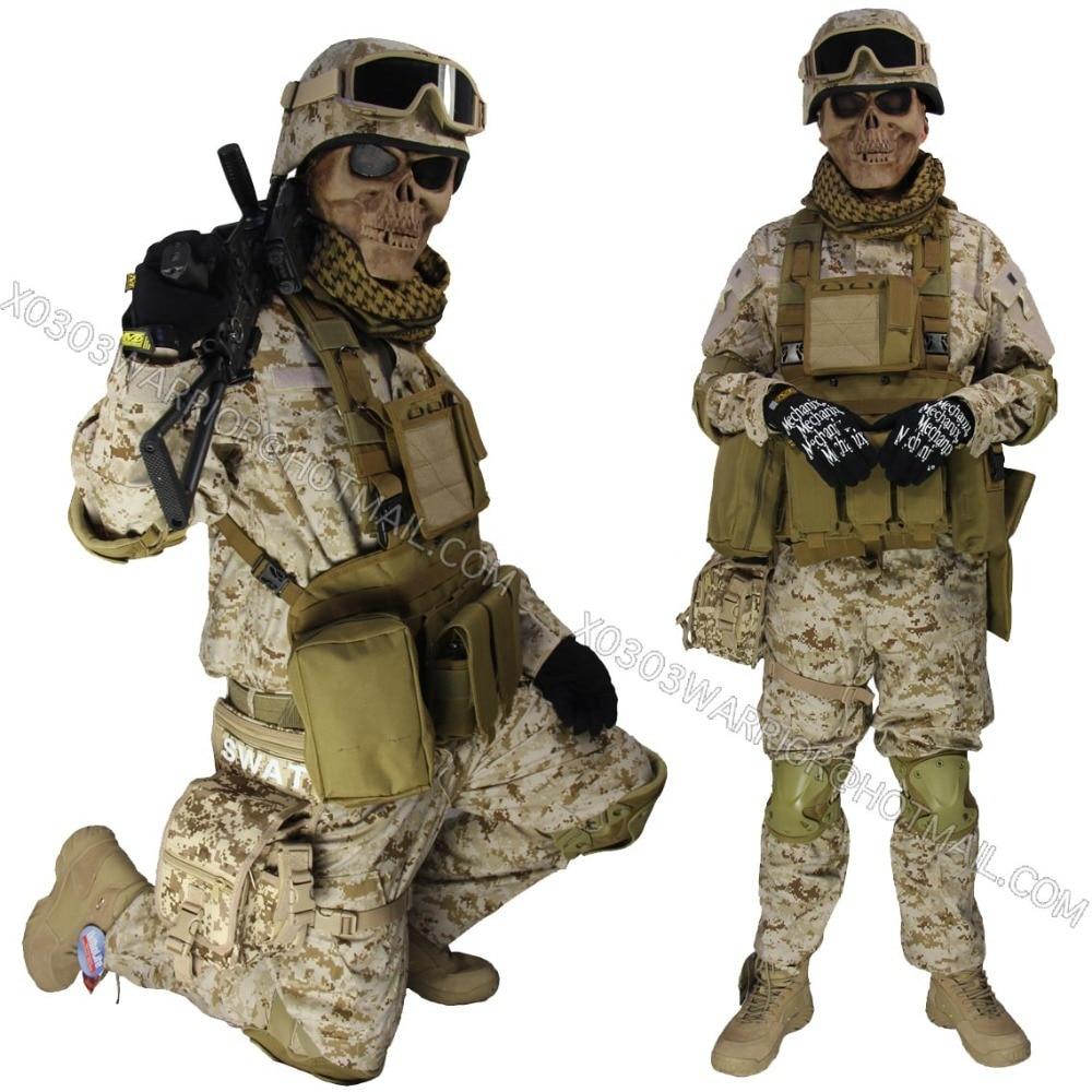 Acu Desert Digital Combat Set Paintball Suit Bdu Hunting