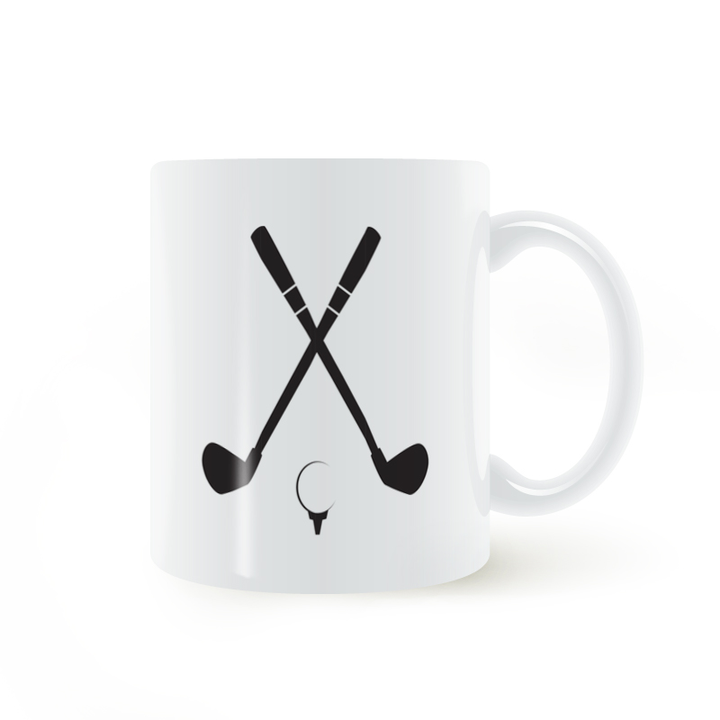 Golf Club PrintMug Coffee Milk Ceramic Creative DIY Gifts Home Decor Mugs 11oz C133