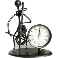 Creative Electronic Desk Clock Decoration Iron Small Desk Clock Bedroom Decoration Office Accessories Decoration Desk 50Y018