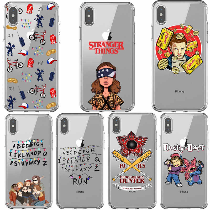Stranger things Season 3 Phone Case for iPhone 12 Pro Max SE 11 Pro Max X XR XS Max 6s 7 8 Plus Clear Soft Silicone Black Cover