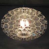 Итальянская дизайнерская столовая акриловые Открытый Подвесные Светильники 35/50 см современные сотовые лампы, светильники для ресторана Го